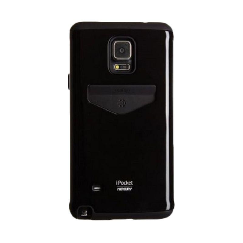 Mercury I Pocket Hitam Casing for Samsung Galaxy Note 4
