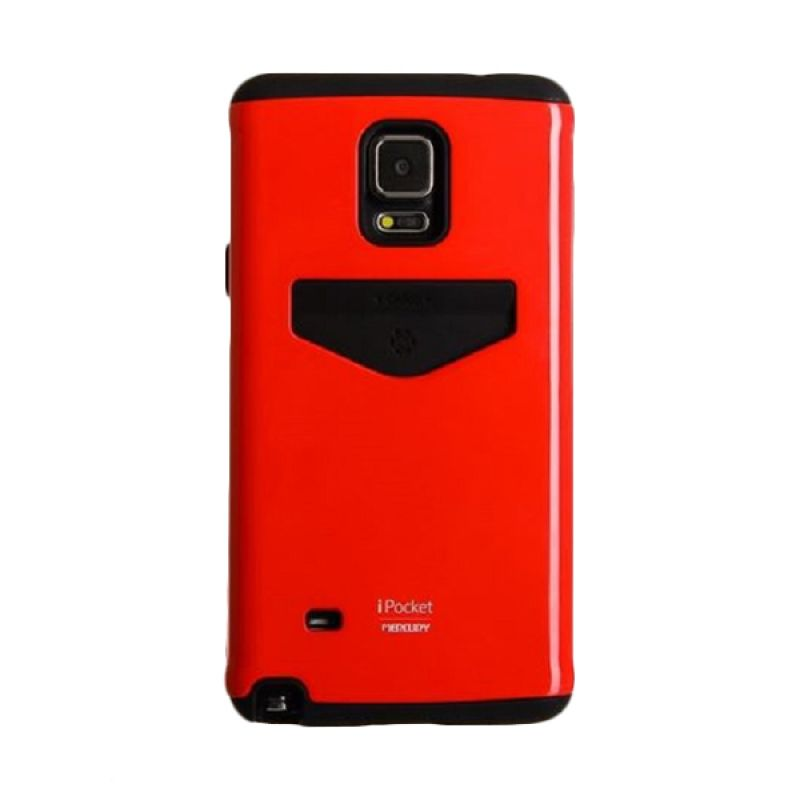 Mercury I Pocket Merah Casing for Samsung Galaxy Note 4