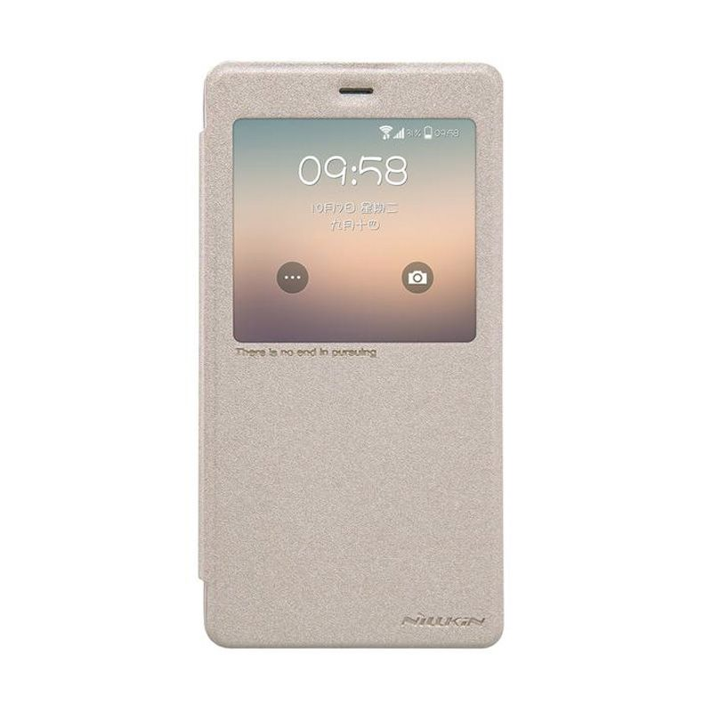 Nillkin Sparkle Leather Gold Casing for Xiaomi Mi Note