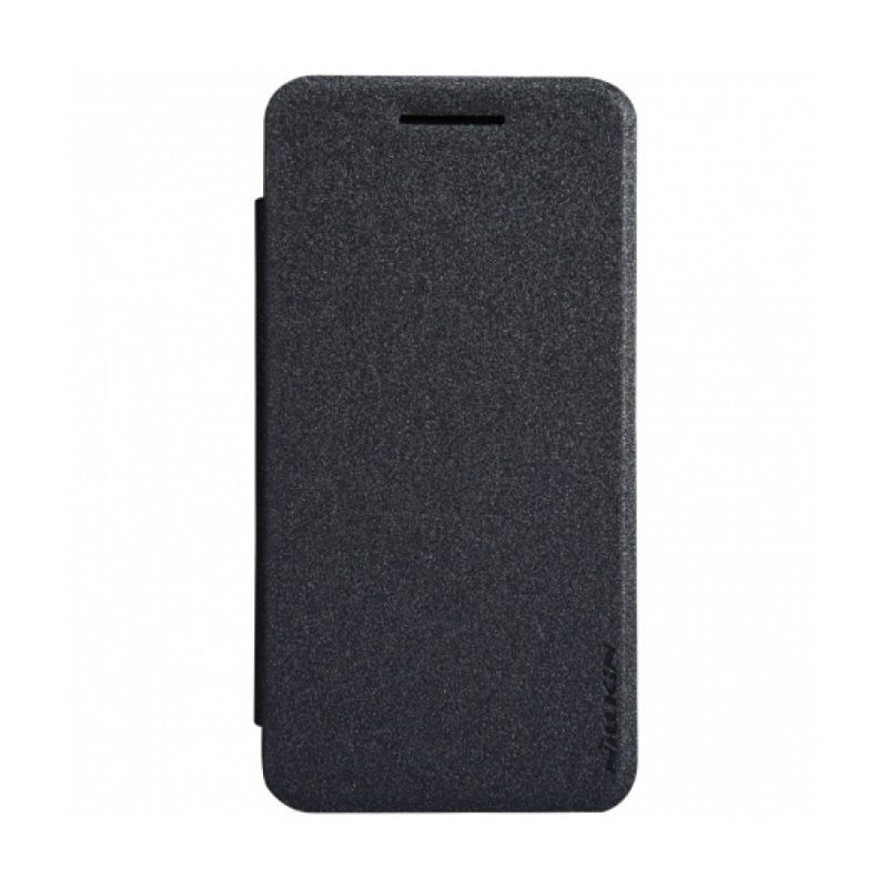 Nillkin Sparkle Leather Hitam Casing for Asus Zenfone 4