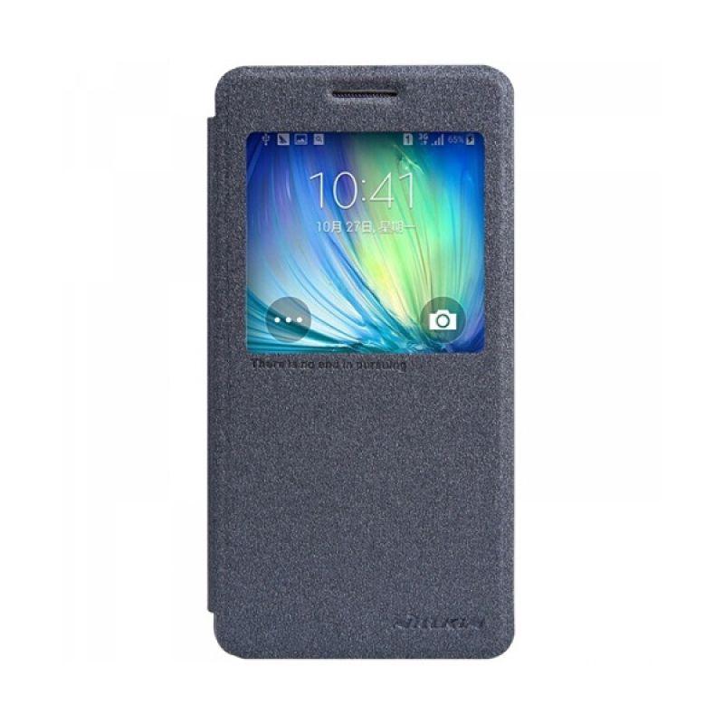 Nillkin Sparkle Leather Hitam Casing for Samsung Galaxy A5
