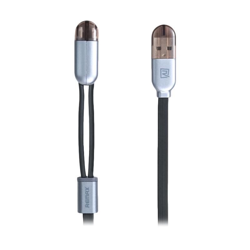 Remax 2 in 1 Kabel Data - Hitam