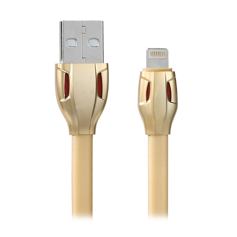 Remax Laser Snack Fast Charging USB Lightning Data Cable for iPhone 5/6/6 Plus/iPad - Gold