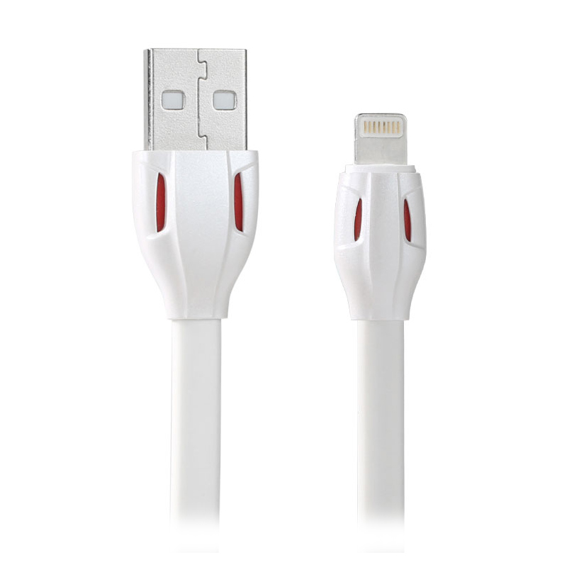 Remax Laser Snack Fast Charging USB Lightning Data Cable for iPhone 5/6/6 Plus/iPad - Putih