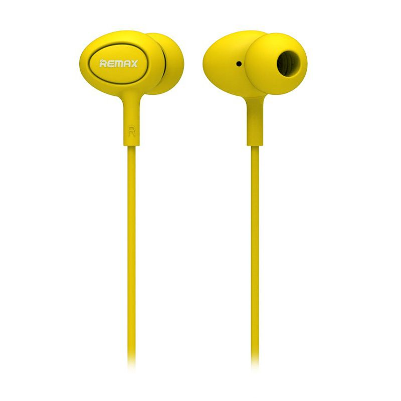 Remax RM 515 Yellow Earphone for Universal Smartphone