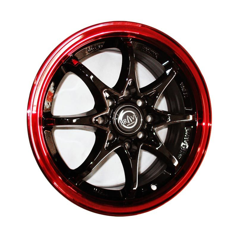 Replika Volkrays CE28 Black Red Velg Mobil [14 Inch]