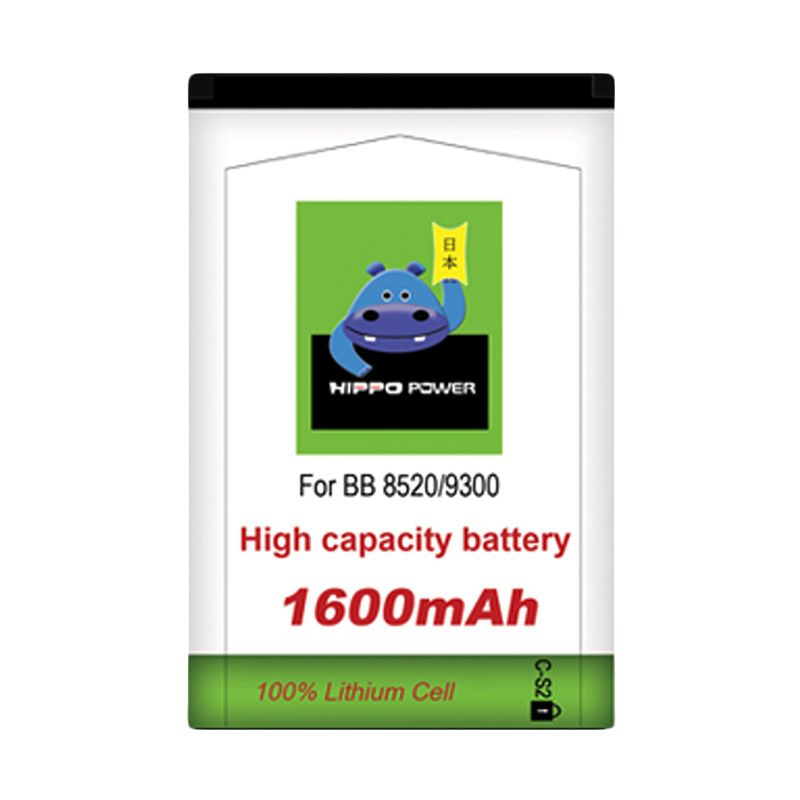 Hippo C-S2 Battery for Blackberry Gemini Curve 8520 or 9300 [1600 mAh]
