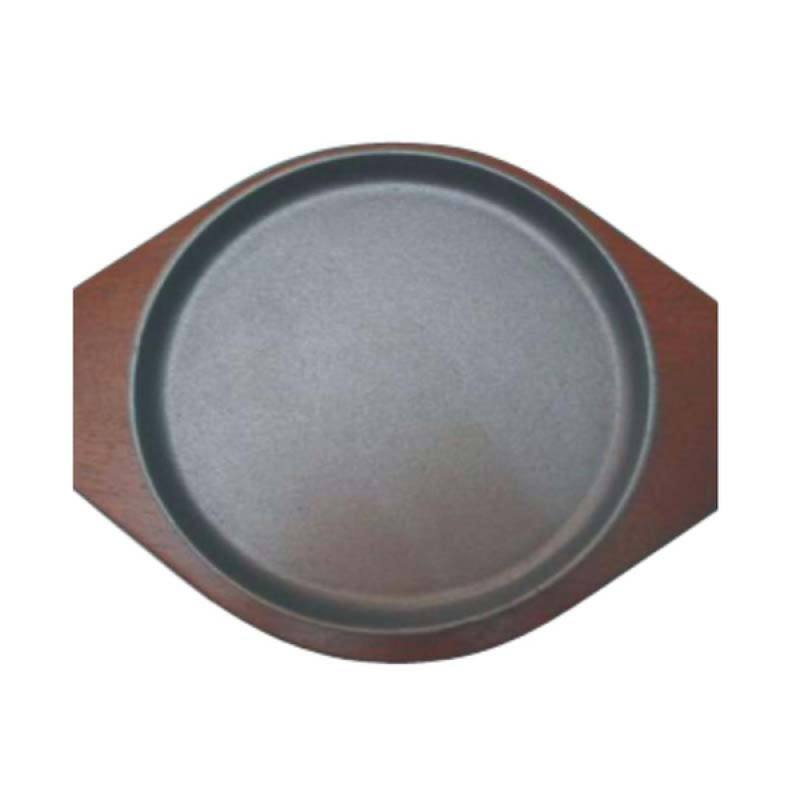 Restomart Round Hot Plate with Wooden Base