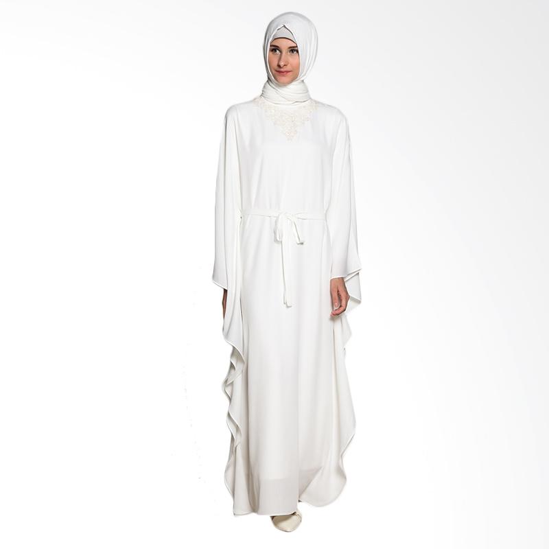 harga Restu Anggraini Nahlah Kaftan Dress Muslim - White Blibli.com