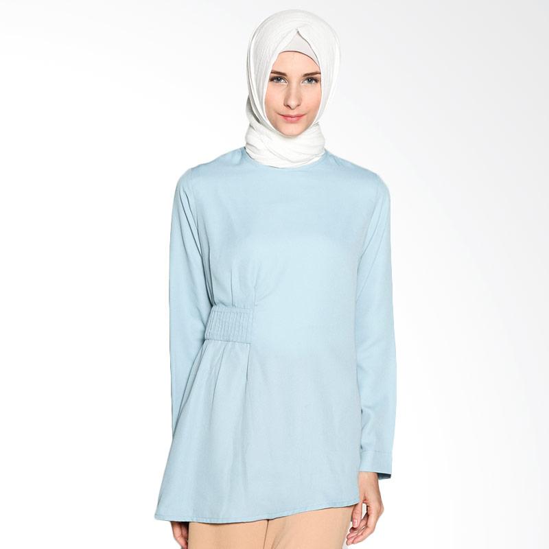 Restu anggraini restu anggraini pansy blouse atasan muslim baby blue full01