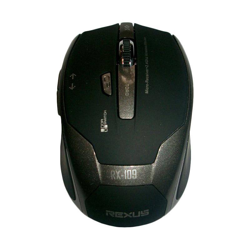 Jual Rexus RX 109 Abu Abu Gaming Mouse Wireless Online