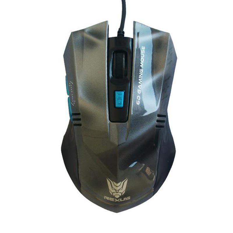 REXUS RXM-G5 Mouse Gaming - Abu Metalic