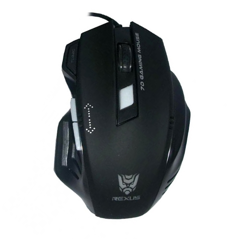 REXUS RXM-G7 Turbo Gaming Mouse - Black