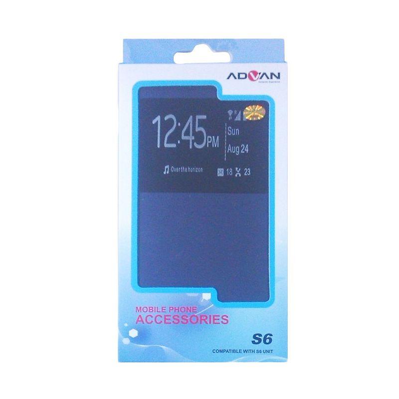 Advan Original Biru Flip Cover Casing for Vandroid S6