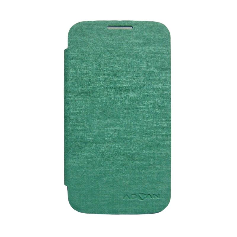 Advan Hijau Tosca Flip Cover Casing for Vandroid S5H