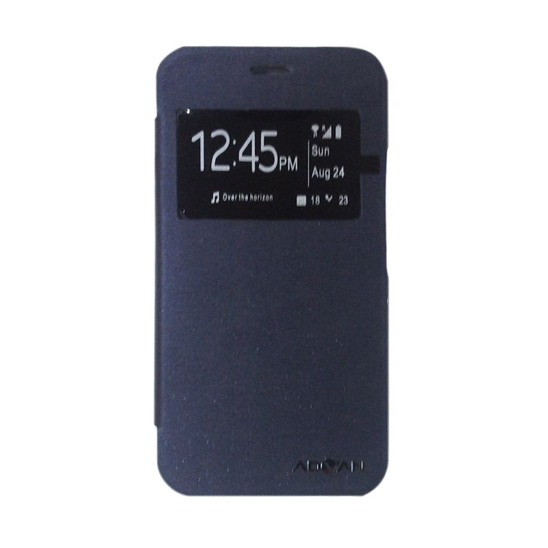 Advan Original Biru Tua Flip Cover Casing for Vandroid S4A+