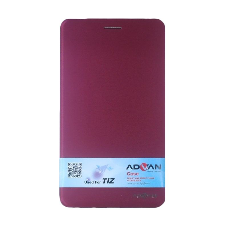 Advan Original Merah Flip Cover Casing for Vandroid T1Z
