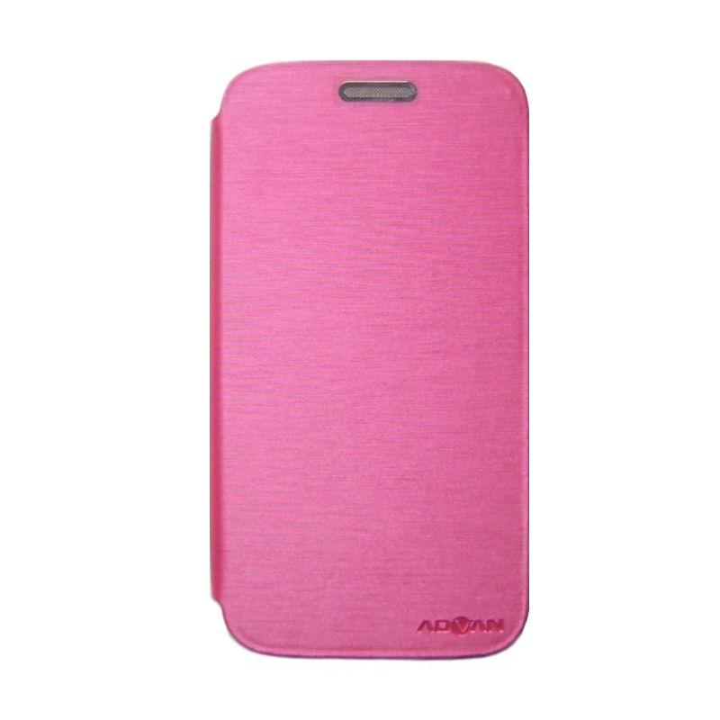 Advan Pink Flip Cover Casing for Vandroid S5E Plus