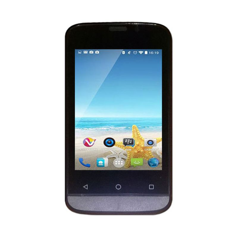 Advan Vandroid S3D Hitam Smartphone [512 MB]