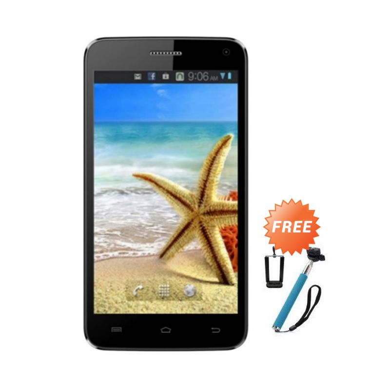 Advan Vandroid S5J Plus Biru Smartphone [8 GB] + Monopod