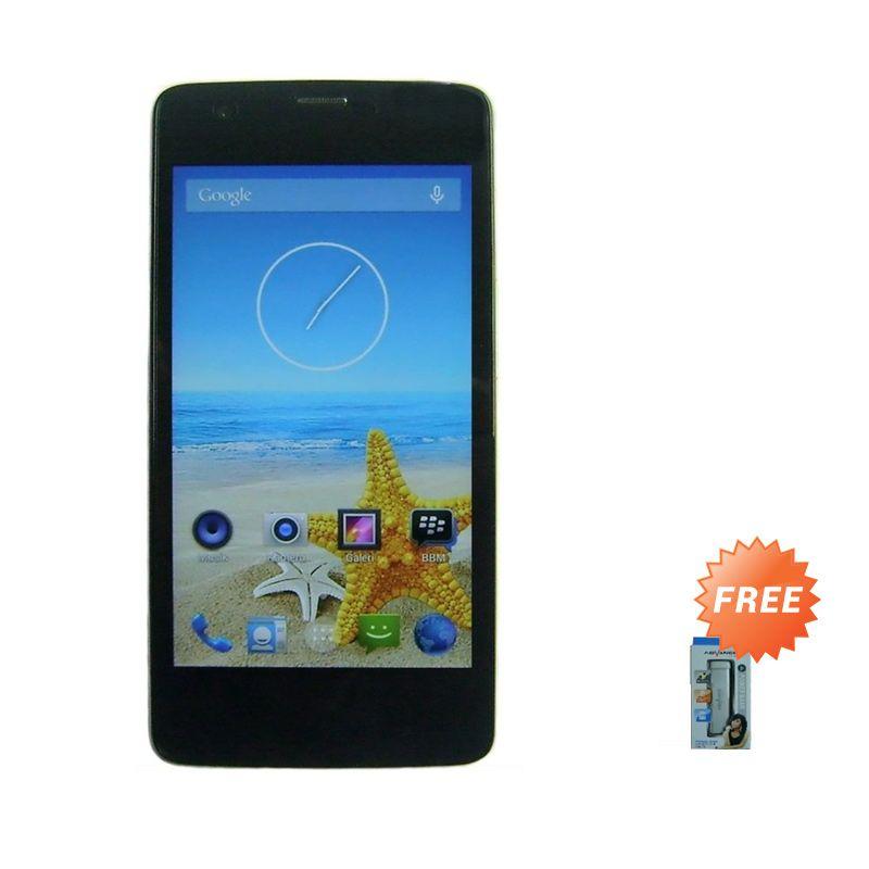Advan Vandroid Signature S5X Plus Hitam Smartphone + Advance Powerbank