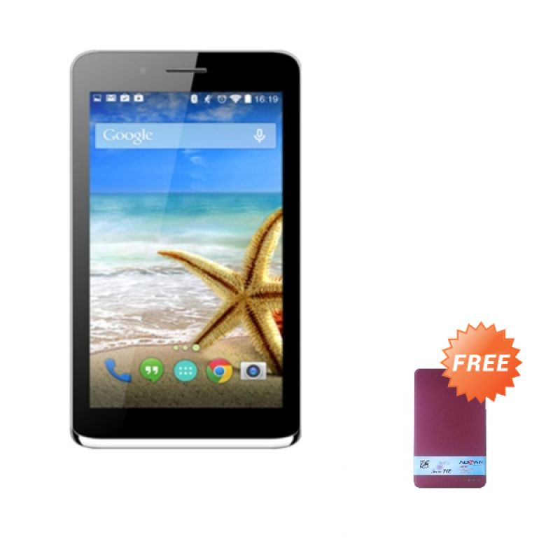 Advan Vandroid Signature T1Z Silver Tablet [16 GB] + Flipcover
