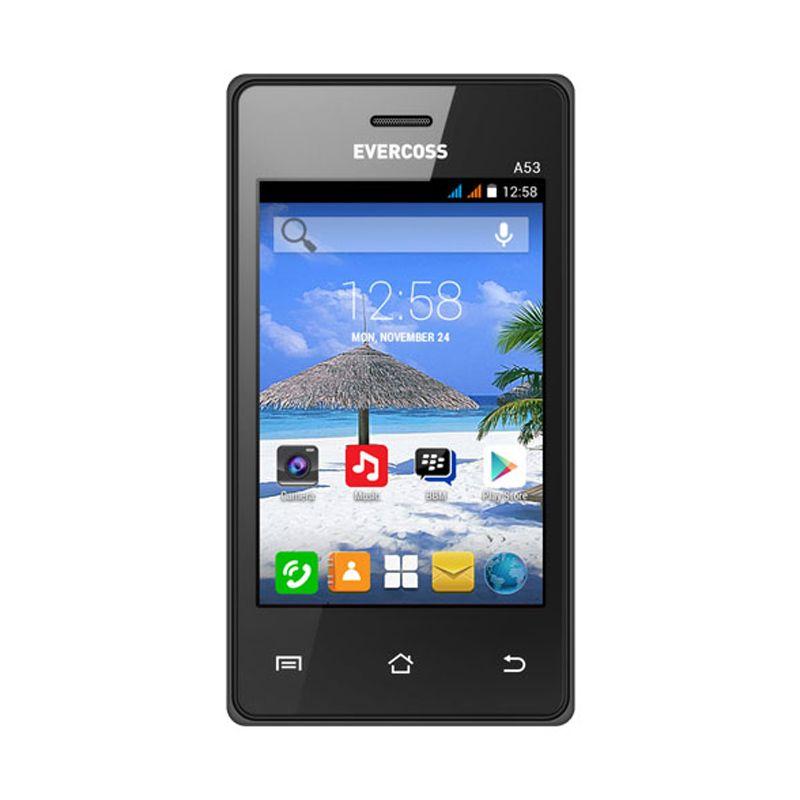 Evercoss A53 Hitam Smartphone [512 MB]
