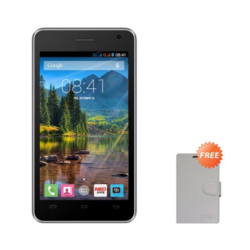 Mito Fantasy Mini A260 Hitam Smartphone [4 GB] + Flipcover Original