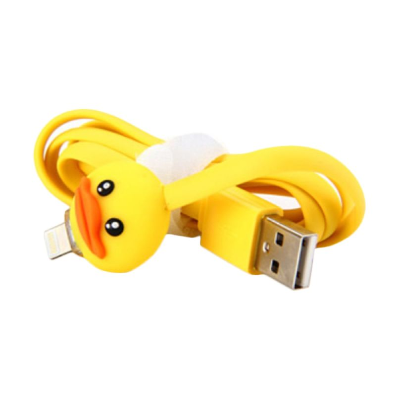 Rhaya Grosir Cute Duck Yellow USB Data Cable for iPhone 5