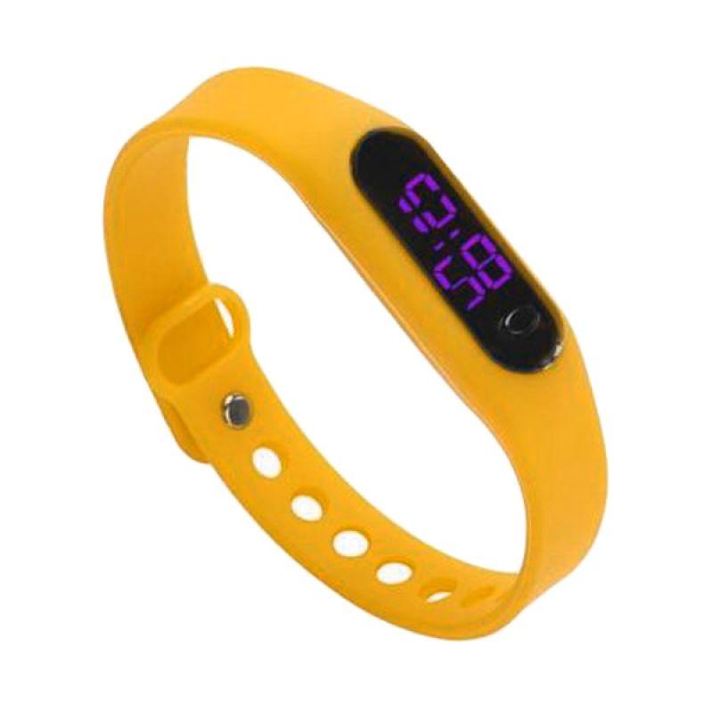 Rhaya Grosir LED Sporty Kuning Jam Tangan Wanita