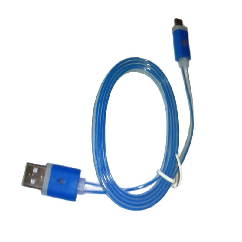 Rhaya Grosir LED Storm Biru USB Data Cable