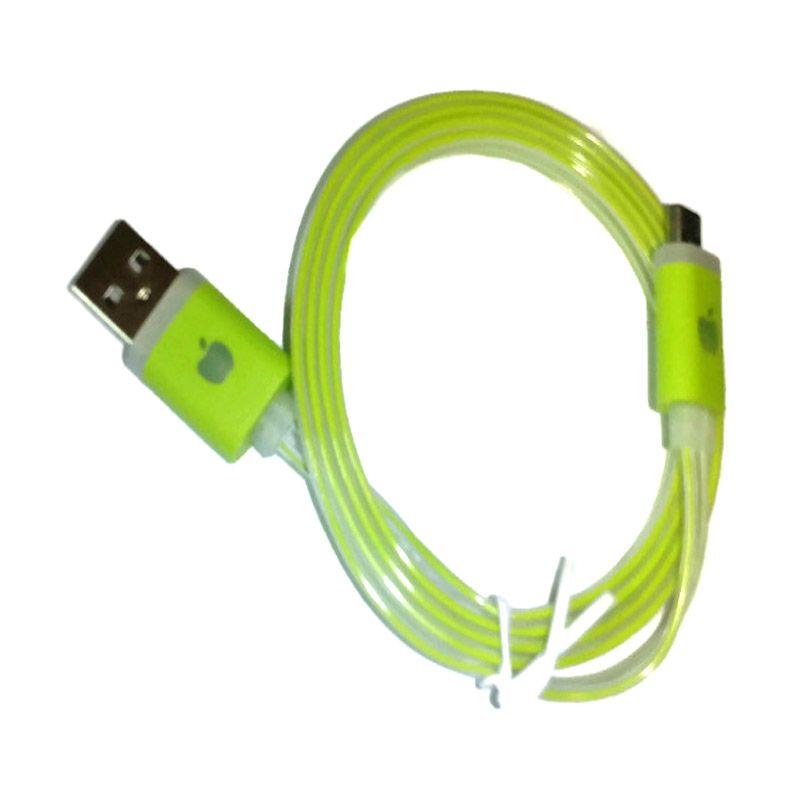 Rhaya Grosir LED Storm Hijau USB Data Cable