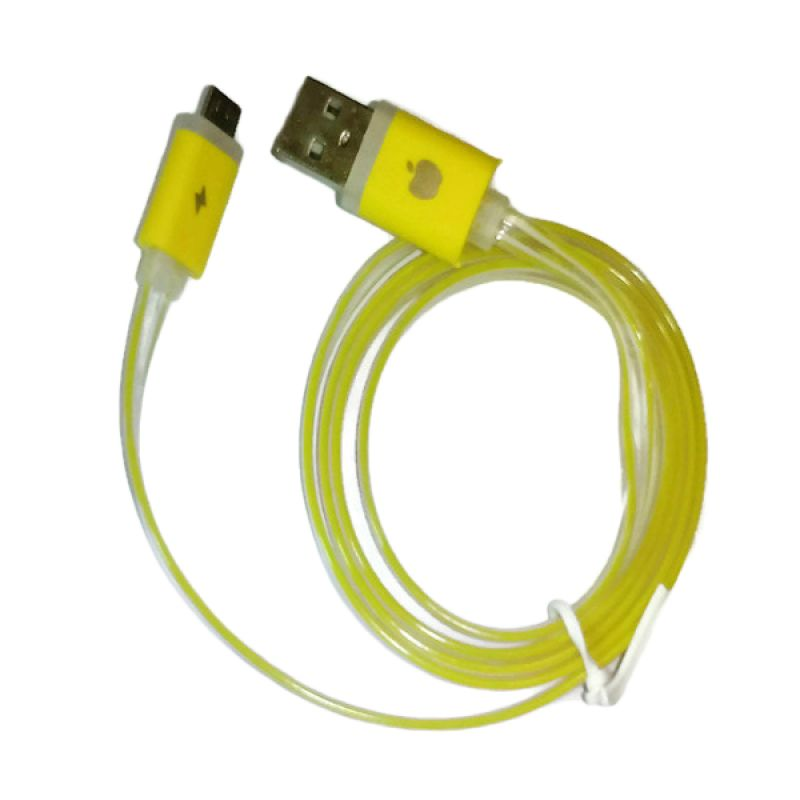 Rhaya Grosir LED Storm Kuning USB Data Cable