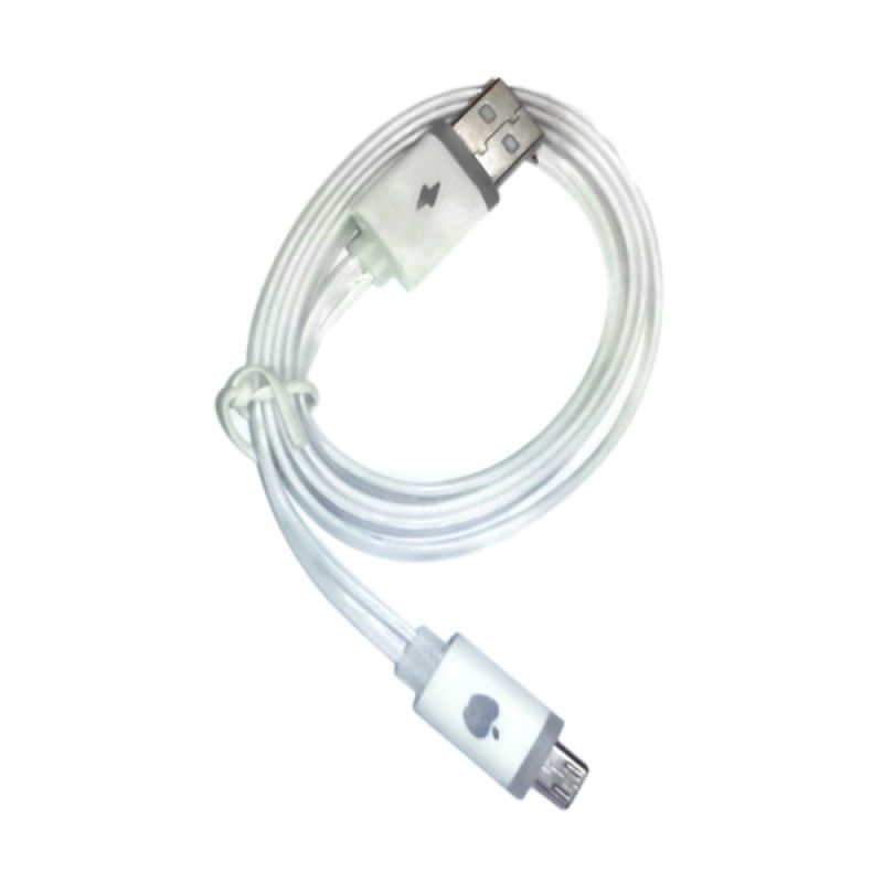 Rhaya Grosir LED Storm Putih USB Data Cable