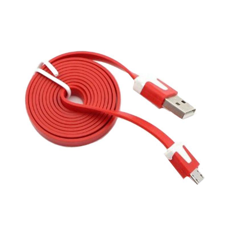 Rhaya Grosir Micro USB Merah Kabel Data