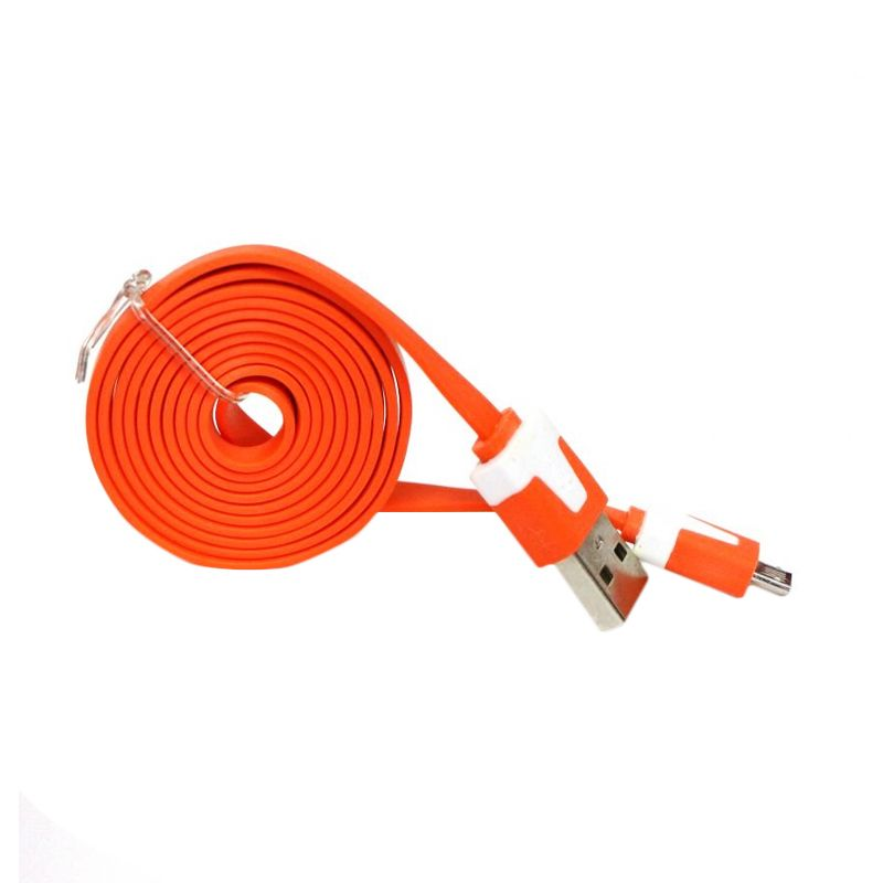 Rhaya Grosir Orange USB Data Cable