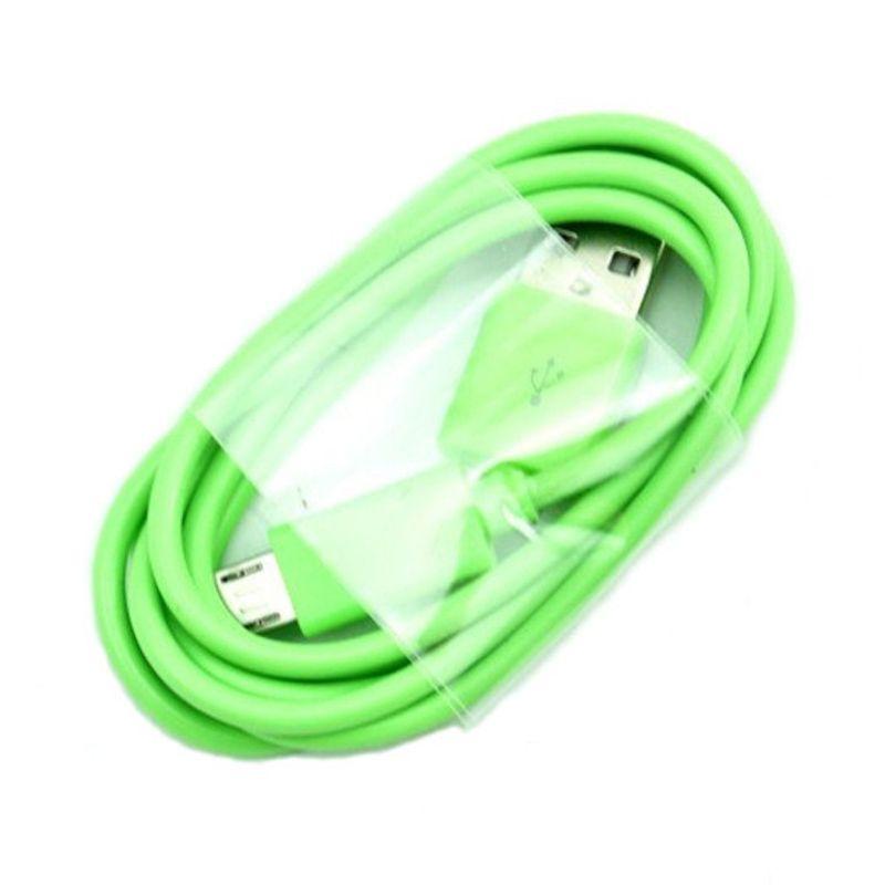 Rhaya Grosir Micro USB Warna Warni Hijau Kabel Data [1 M]