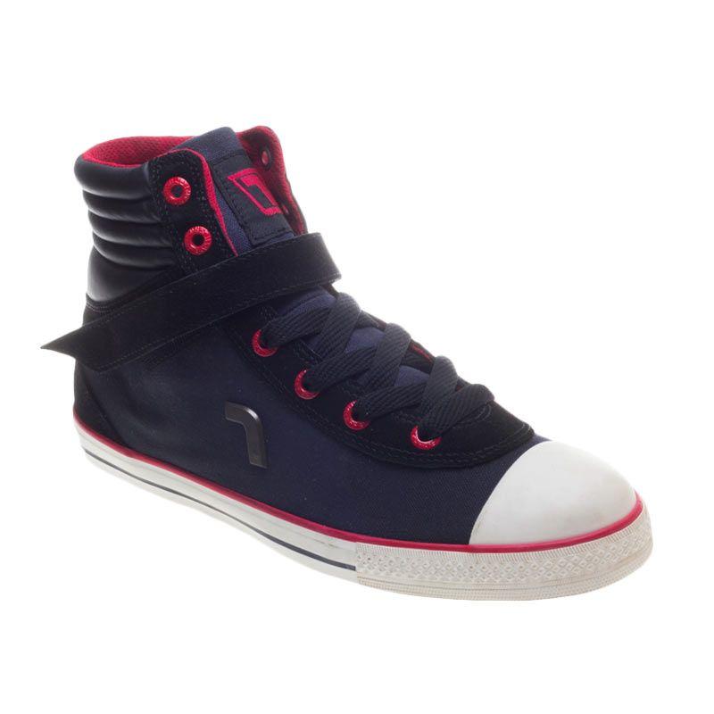 Rhumell Hi Rock Navy Black Sepatu Sneakers Pria