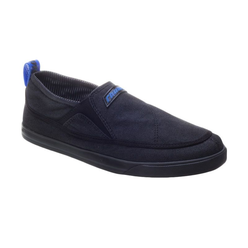 Rhumell The Rich Slip On Black Sepatu Sneakers Pria