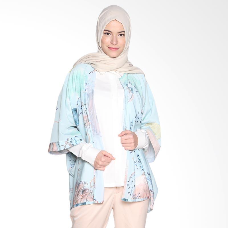 Ria Miranda Kaluga Atasan Muslim - Print Jellyfish Mint Green