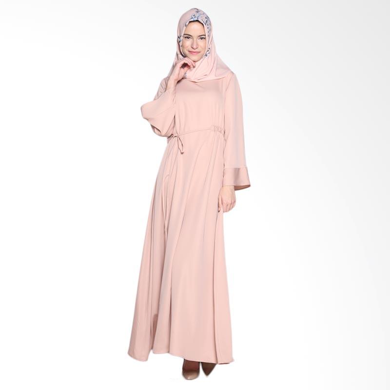 Ria Miranda Saury Dress Muslim - Coral