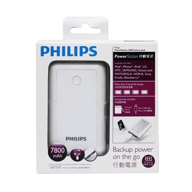 Philips Putih Powerbank [7800 mAh]