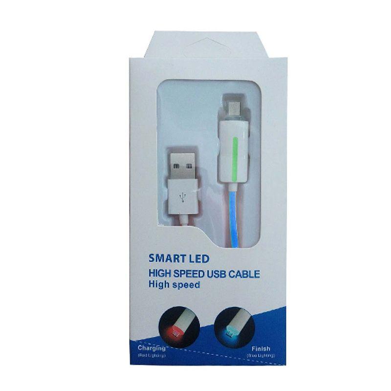Smart LED High Speed Biru USB Data Cable