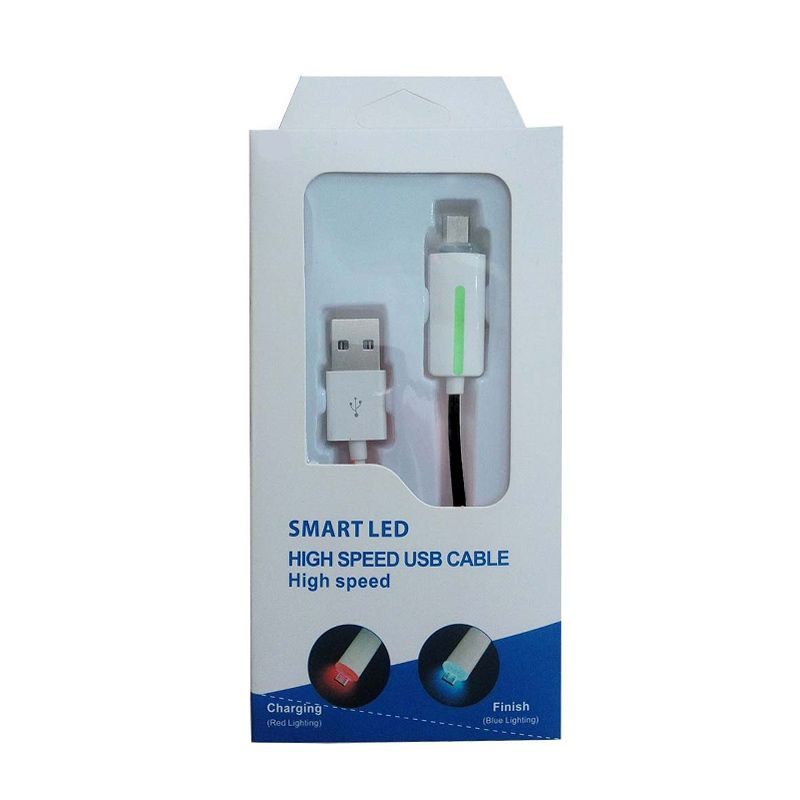 Smart LED High Speed Hitam USB Data Cable
