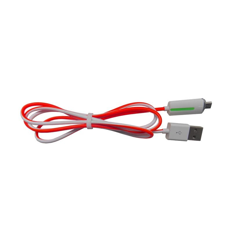 Smart LED High Speed Merah USB Data Cable