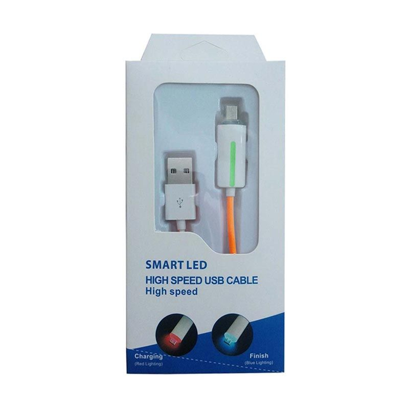 Smart LED High Speed Orange USB Data Cable