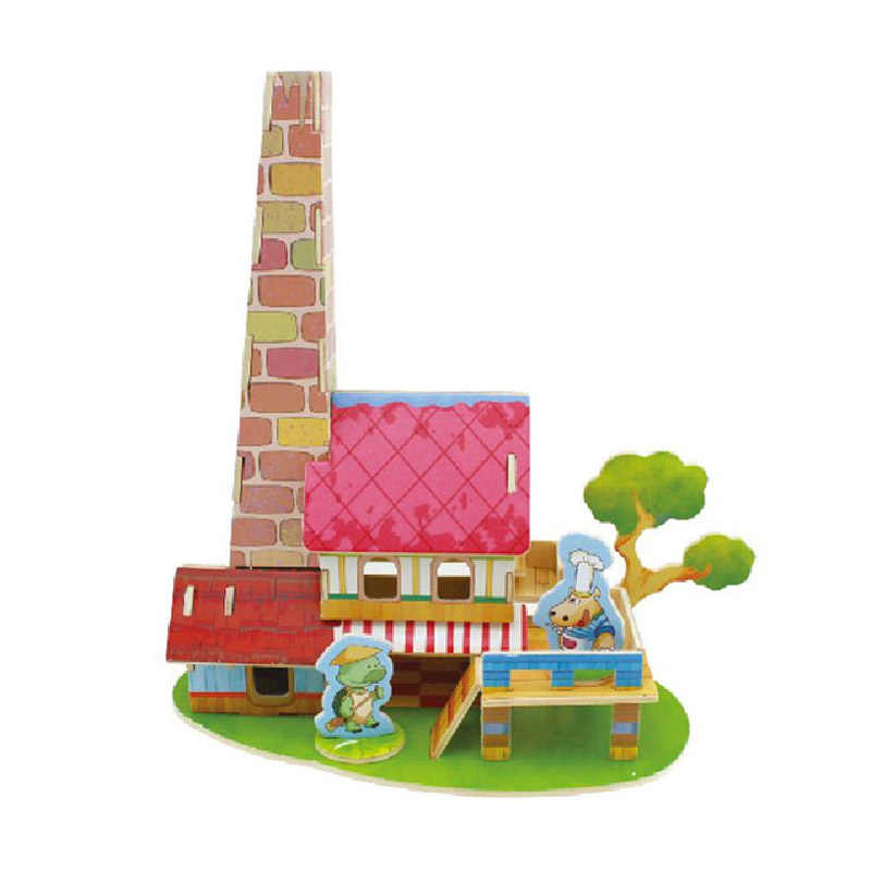 Robotime F112 Restaurant Mainan Blok dan Puzzle