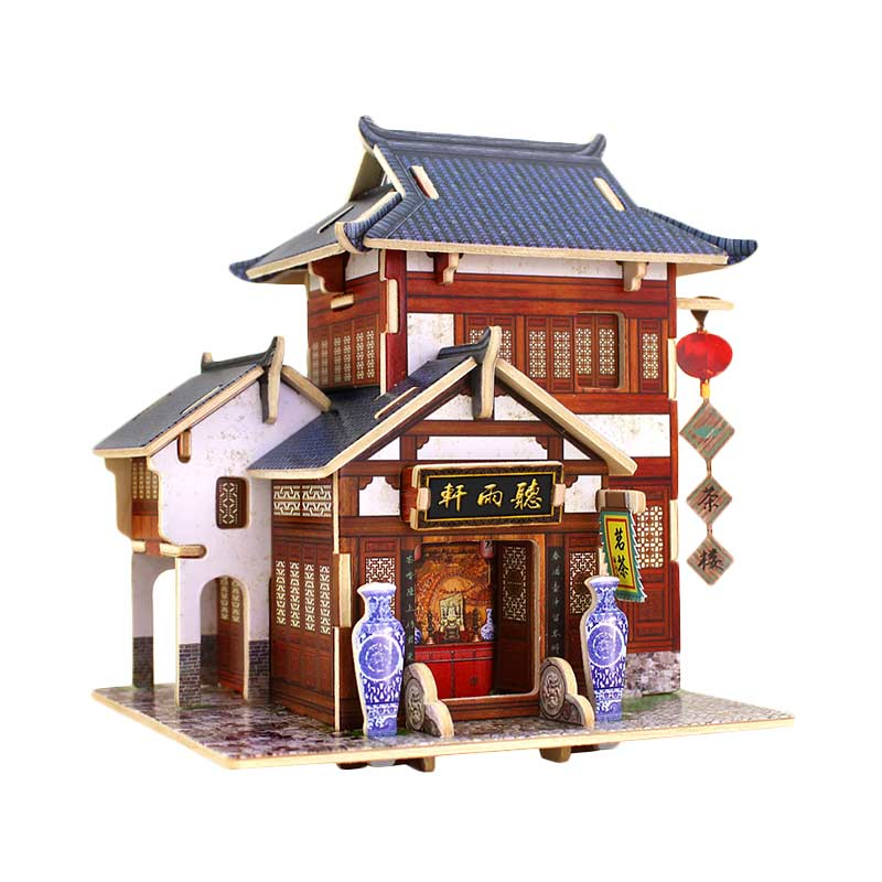 Robotime F131 Chinese Tea House Mainan Puzzle