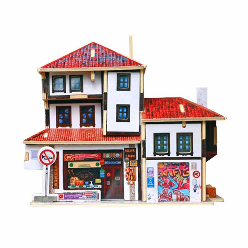 ROBOTIME F143 Turkey Souvenir Store Mainan Puzzle