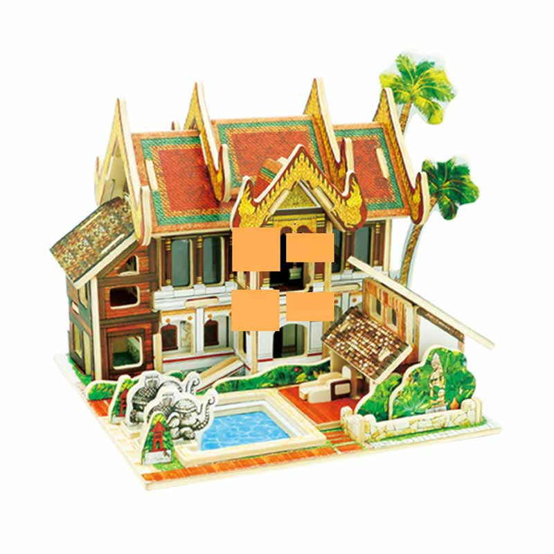ROBOTIME F145 Sea Thailand Holiday Inn Mainan Puzzle